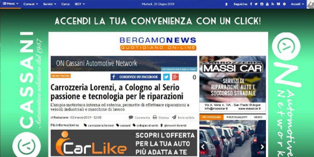 Carrozzeria Lorenzi, a Cologno al Serio passione e tecnologia per le riparazioni